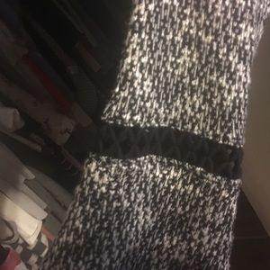 Design Lab Lord & Taylor Tops - Black and white knit blouse
